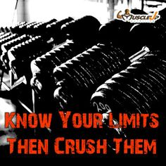 Crush your LIMITS!!! https://www.facebook.com/photo.php?fbid=655138671196591