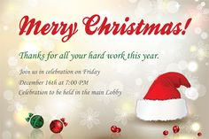 Company Christmas Party Invitation Wording!!