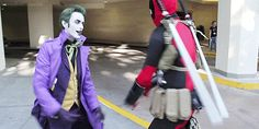 - - - - Anthony Misiano (Harley's Joker) and D-Piddy (Deadpool) at WonderCon 2013 { x }