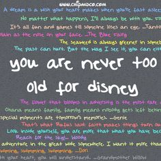 You are never to old for Disney!