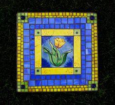 tulip mosaic stepping stone