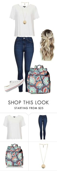 """first day of school outfit"" by avery-m-smith on Polyvore featuring Topshop, Vera Bradley, Givenchy and Converse #promshoesconverse"