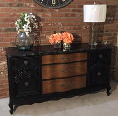 Theresa Young of Painted Twice Designs blew us away with this stunning dresser styled in Lamp Black Milk Paint! Learn How to Hand Apply General Finishes Milk Paint: http://youtu.be/c6QK6Nd4_Ig