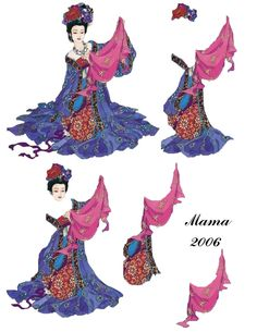 Lady of the cloth 3d Paper, Paper Toys, Debbie Moore, Christmas Sheets, Asian Image, 3d Sheets, Wire Jewelry Designs, 3d Cards, Decoupage Paper