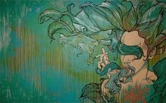 """""""Spilling/Spinning"""" by Brandon Boyd, acrylic on canvas."""