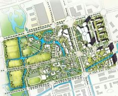 Landscape And Urbanism, Urban Landscape, Urban Design Plan, Plan Design, Lanscape Design, City Layout, Eco City, Site Plans, Master Plan