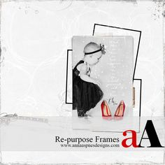 Framed Focus tutorial for digital artistry, crafting, photo manipulation and scrapbooking in Adobe Photoshop and Elements