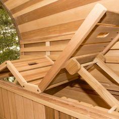 Dundalk Leisure Craft Panoramic View Cedar Barrel Sauna - My Sauna World Rustic Saunas, Steam Room Shower, Building A Sauna, Sauna Shower, Home Spa Room, Wood Burning Heaters, Barrel Sauna, Cedar Roof, Outdoor Sauna