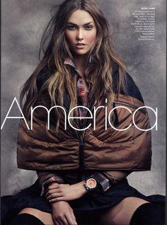America the Beautiful I US Vogue I June 2011 I Photographer: Craig McDean I Model: Karlie Kloss I Editor: Tonne Goodman.