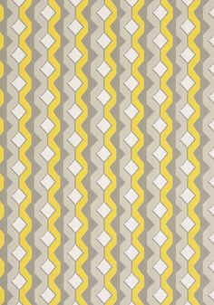 TWISTED CHAIN, Yellow and Grey, W77985, Collection Resort from Thibaut