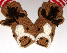Giraffe mittens crochet mittens with giraffe face. Sizes 0-6
