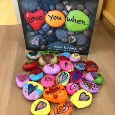 """""""One of our favourite books! Children eager to paint their own kindness rocks =="""