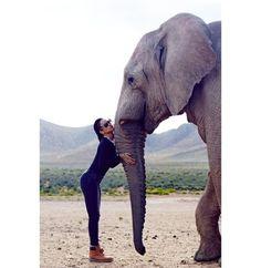 Around the World With Bad Gal RiriMama Africa #safari @gomillionandleupoldPhoto: Instagram