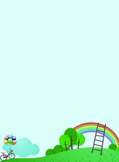 Cartoon simple enrollment poster background