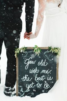 38 Couples Who Absolutely Nailed Their Winter Wedding Wedding Quotes, Wedding Signs, Our Wedding, Dream Wedding, Wedding Reception, Snow Wedding, Wedding Story, Reception Ideas, Reception Decorations
