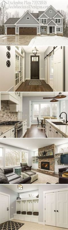 Architectural Designs Exclusive House Plan 73328HS client-built in Michigan. The home gives you 4+ beds, 4+ baths and over 2,700 square feet. Ready when you are. Where do YOU want to build?