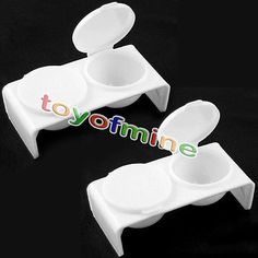 2pcs Nail Art Acrylic Liquid Holder Container - White