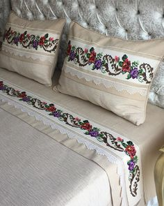 Home Sew, Designs For Dresses, Crewel Embroidery, Quilt Bedding, Baby Knitting Patterns, Bed Covers, Cross Stitch Designs, Pillow Design, Quilt Making