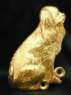 Cavalier King Charles Spaniel Bronze Dog Hook -