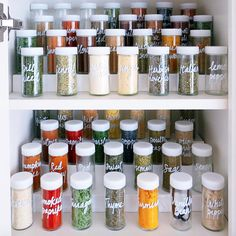 spice jars the home edit
