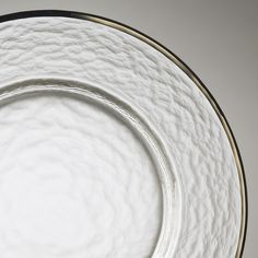 Plate Liner Glass/Platinum Trim Round