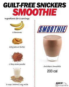 Fruit Smoothie Recipes, Milkshake Recipes, Easy Smoothies, Smoothie Ingredients, Snack Recipes, Snacks, Smoothie Diet, Whole30 Recipes, Breakfast Smoothies