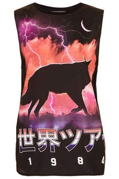 Wolf Tour Tank By Workshop | Topshop