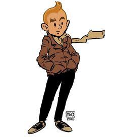 Tintin 2018 sketch :) #sketch #pencil #doodle #applepencil #procreate #tintin #2018 #herge #belgium #smile #hipster #picoftheday #instagood…