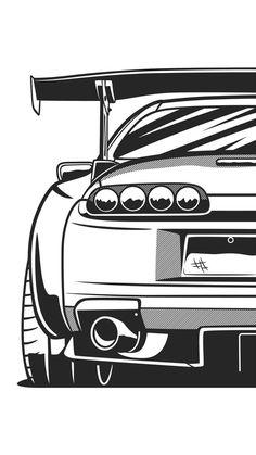 'Supra Sticker by OlegMarkaryan Tuner Cars, Jdm Cars, Car Animation, Cool Car Drawings, Jdm Wallpaper, Hd Phone Wallpapers, Car Illustration, Japan Cars, Car Posters