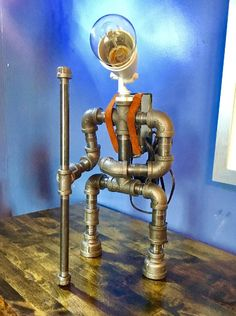 Harold the Hiker Metal Pipe Lamp
