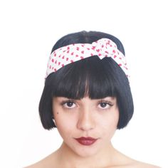 Valentine's Day Gifts Heart Print Headband by fashionmeme on Etsy