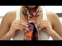 5 Ways To Express Yourself with your Hermès Scarf - YouTube