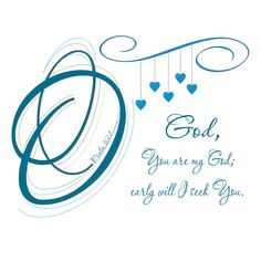 O God, You are my God, PDF Instant Download, Digital File, Psalm 63:1, Bible Verse Art,Typography Doodles, Abstract Art, Facebook Blue, Lime by LoveLineSigns on Etsy
