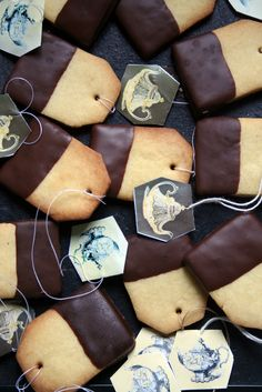 shortbread teabag cookies  @Jennifer Milsaps L Milsaps L Bolger: I saw you were doing a tea party themed bridal shower and thought you'd like these!!