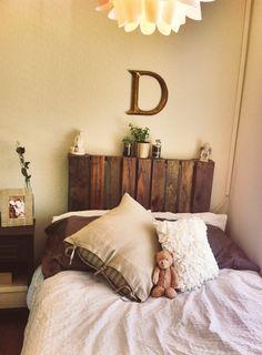 Decorated my new room :) DIY headboard
