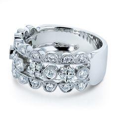 Annello by Kobelli 10k White 1/2ct TDW Gold Diamond Wide Band Anniversary Ring (H-I, I1-I2)
