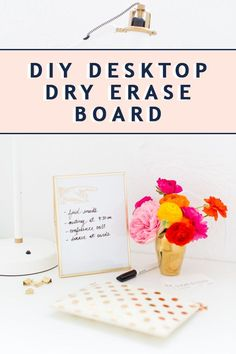 Home Decor Bohemian Reinvent the ugly token office supply with this cute desktop organizer a DIY dry erase board that you can easily make from items already at home. Cheap Dorm Decor, Cheap Rustic Decor, Cheap Bedroom Decor, Diy Desktop, Office Desktop, Rustic Houses Exterior, Manufactured Home Remodel, Minimalist Home Interior, Diy Art Projects