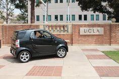 Black Wheego LiFe electric car visits UCLA