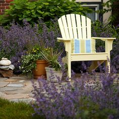 Update old patio furniture with spray paint. More patio perk-up ideas: http://www.bhg.com/home-improvement/patio/24-patio-perk-ups/?socsrc=bhgpin051912=1