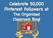 pin #5 in The Organized Classroom Blog Pinterest Scavenger Hunt  http://www.theorganizedclassroomblog.com/index.php/blog/50000-pinterest-fans-thank-you