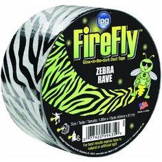 Intertape Polymer Group ZEB30 1.88-Inch by 10-Yard Fire Fly Zebra Glow in the Dark Duct Tape