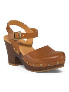 Marcia Leather Platform Clogs