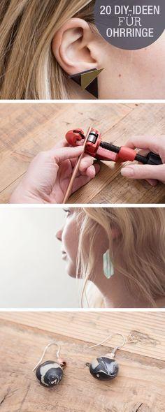 DIY-Anleitungen: Ohrringe selber machen, Schmuck für Hochzeit, lässige Ohrstecker, moderne Ohrringe / DIY-tutorials: cute selfmade earrings, crafting studs, boho earrings for teens via DaWanda.com