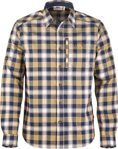 Long-sleeved shirt with button-down collar in functional polyester flannel.  Two chest d94e5431f2