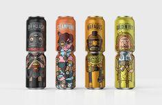 Les cannettes de la marque Noble Rey Brewing Co. : Les deux font la bière !