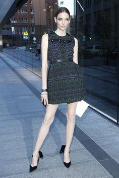 Gwiazdy na otwarciu butiku Louis Vuitton:Zuzanna Bijoch w sukience Louis Vuitton, fot. Akpa