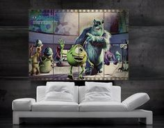 Hey, I found this really awesome Etsy listing at https://www.etsy.com/listing/171772980/monsters-inc-walt-disney-movie-poster