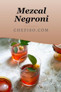 Allie Wist's take on the classic Negroni uses smoky Mezcal for a creative take on an amaro cocktail. Amaro Cocktails, Cosmopolitan Cocktails, Cocktail Bitters, Negroni Recipe, Cocktails History, Cocktail Images, Citrus Trees, Food System, Cocktail Recipes