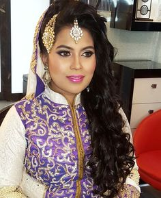 Farzana on her walima reception this past weekend....all of those hair are her own ...no extentions used by iamjennywu