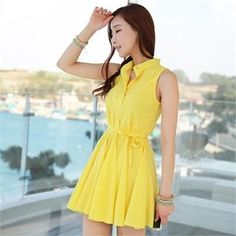 Sleeveless Shirtwaist A-Line Minidress
